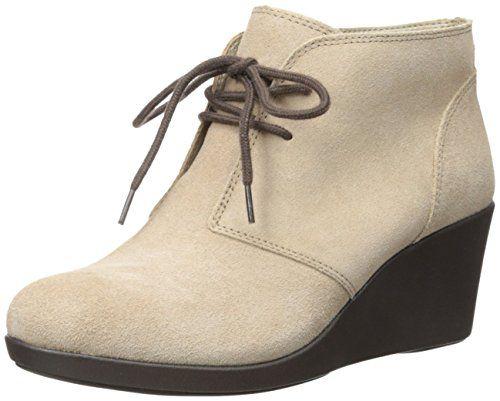 amazon.com | Crocs Женская Leigh Suede Клин Shootie загрузки | ботинки