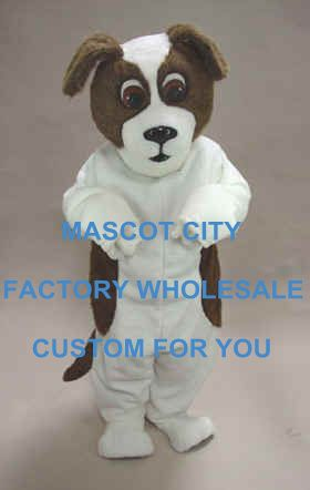 ==> [Free Shipping] Buy Best Brown & White St. Bernard Dog Mascot Adult Size Cartoon Character Plush Mascotte Outfit Suit Fancy Dress SW726 Online with LOWEST Price | 32729351634
