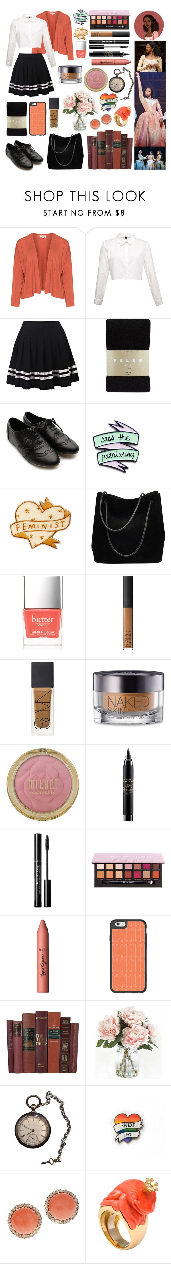 """Angelica Schuyler (Hamilton)"" by castiel-phantomhive ❤ liked on Polyvore featuring Isolde Roth, Falke, Ollio, Gucci, Butter London, NARS Cosmetics, Urban Decay, MAC Cosmetics, tarte and Casetify"