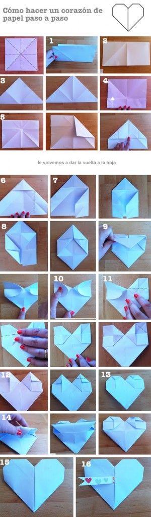 Como hacer un corazón de papel paso a paso