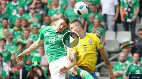 Football Highlights from UEFA Euro 2016 group E match: Republic of Ireland vs Sweden Match result: Ireland 1 - 1 Sweden Played on: June 13, 2016 Venue...