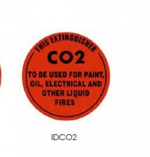 IDCO2 | ID Sign CO2 Extinguisher | Fire Signs and Adhesive Labels | Southside Fire & Safety
