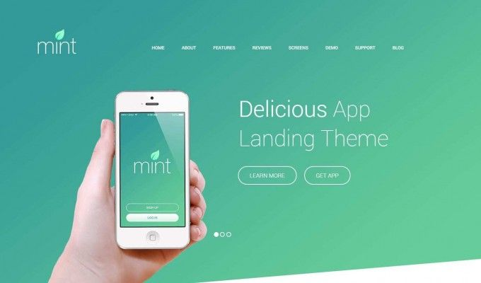 Mint your webdesign app landing site!  #webdesign #wordpress #app #android #ios #mobile #smartphone #theme  http://goo.gl/EG7zNd
