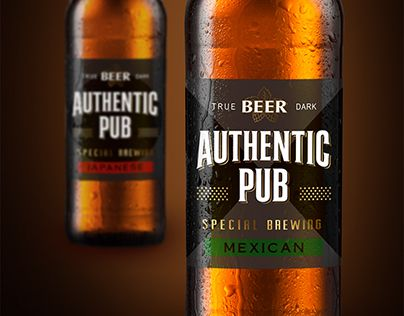 "Check out new work on my @Behance portfolio: ""Beer ""Authentic Pub"""" http://be.net/gallery/54056961/Beer-Authentic-Pub"
