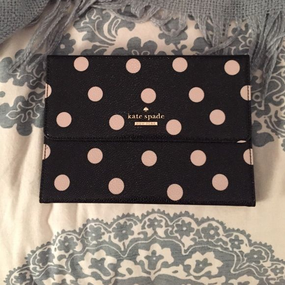 Kate Spade Mini IPad Case with keyboard Black and cream polka dot mini iPad case with keyboard kate spade Accessories Tablet Cases