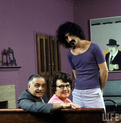 Frank Zappa, one of my favorites. With his parents. Just an awesome pic.