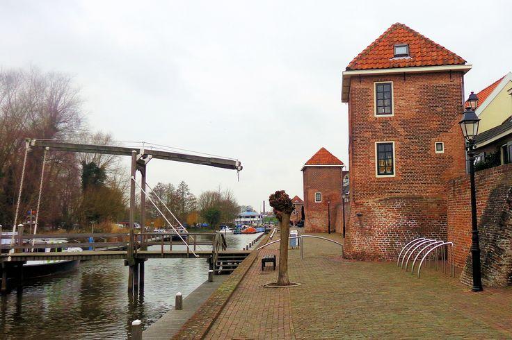 Aan de Zuidwal staat het enig overgebleven deel van de imposante stadsmuur aan de Linge. Waarschijnlijk is de stadsmuur eind 14e, begin 15e  eeuw gebouwd. Het geheel met torens en rondelen geeft nog een goed beeld van de versterkte stad die Leerdam in die tijd was. In 1738 zijn op de resten van de oude, in onbruik geraakte en vervallen muurtorens drie woningen gebouwd. Vroeger kwam het water van de Linge tot aan de muur, de kade was er nog niet.