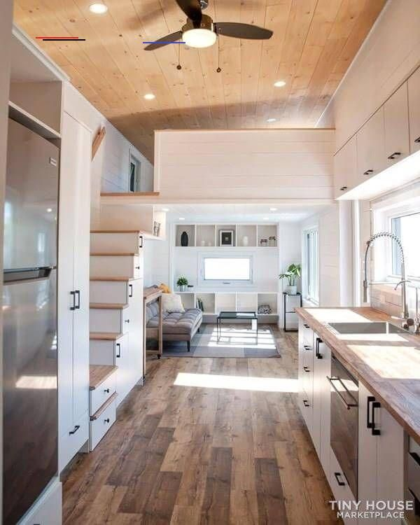 Modern And Luxurious Big Tiny House For Sale In Quebec Tinyhouseliving This Is A Big Modern Tiny In 2020 Modern Tiny House Tiny House Design Tiny House Decor