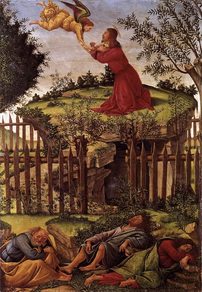 """The Agony in the Garden"" (Chirst on the Mount of #Olives) by the great Italian #painter Sandro Botticelli, 1498-1500, Museo de los Reyes Católicos, Granada. #Laudemio"
