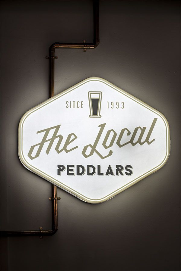 The Local at Peddlars & Co. Since 1980.