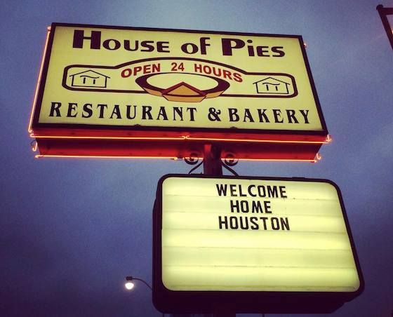 House of Pies, the Houston haven for generations of drunks and night owls. Best hours are between 12 and 2am. Try the Bayou Goo (Houston, TX)