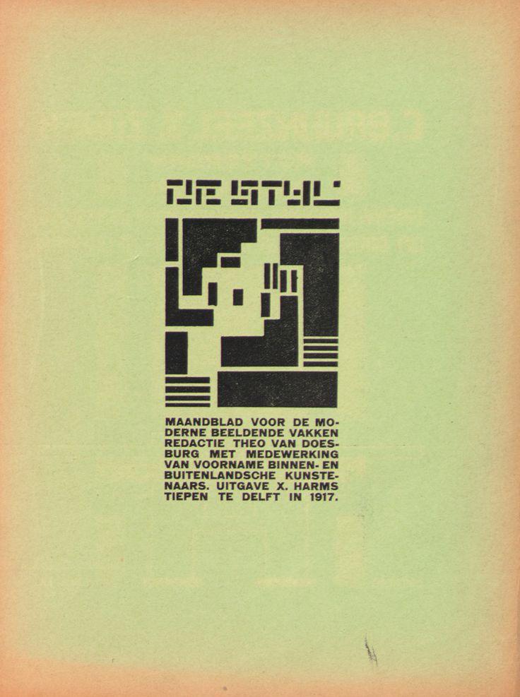 De Stijl magazine, Theo van Doesburg, 1917: Inspiration, Style, Posters Design, Theo Vans, 1917, Graphics Design, Stijl Magazine, Destijl, Vans Doesburg