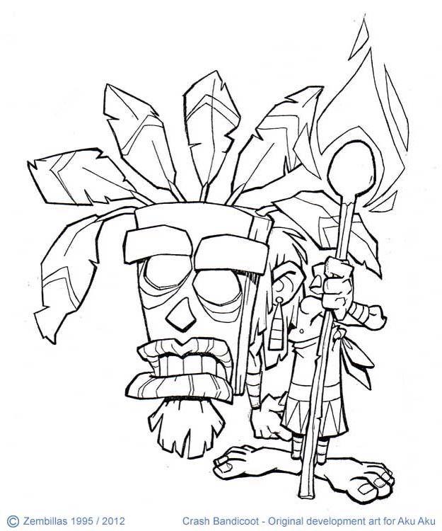 Crash Bandicoot Mask The character of aku aku