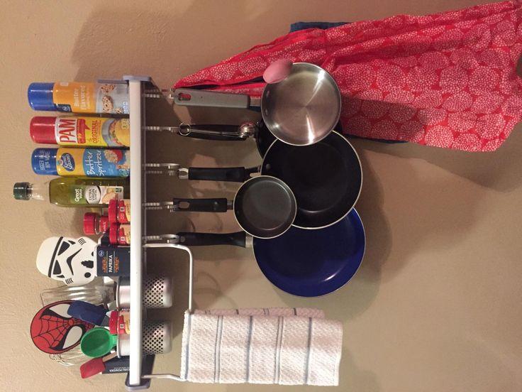 Amazon.com: Customer Reviews: Plumeet Kitchen Organizer, Wall Hanging  Multifunctional Aluminum Kitchen