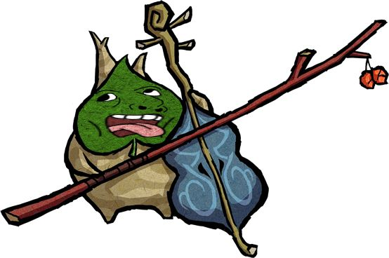 #Makar from the #LegendofZelda #WindWaker with a #RetardedFace