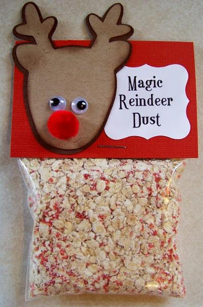 Reindeer Dust.jpg  oats, wheat, etc would work well for this and leave bird food behind