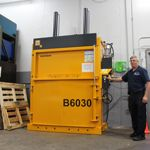 Spending less time on shrink wrap and cardboard disposal with Bramidan 60 inch mill size vertical baler