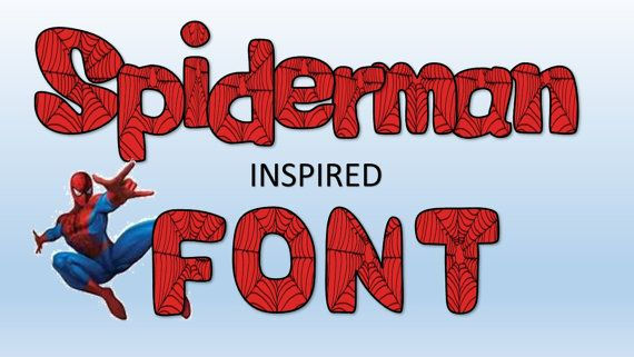 Spiderman font digital clipart.  Red and by TimeToTimeDesigns, $2.99