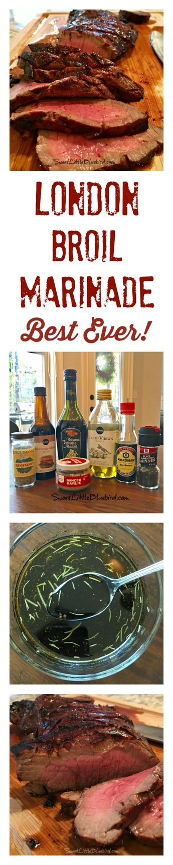 BEST-EVER LONDON BROIL MARINADE - My go-to for the BEST London Broil! A favorite tried & true recipe! Just a few few simple ingredients I always have in hand.