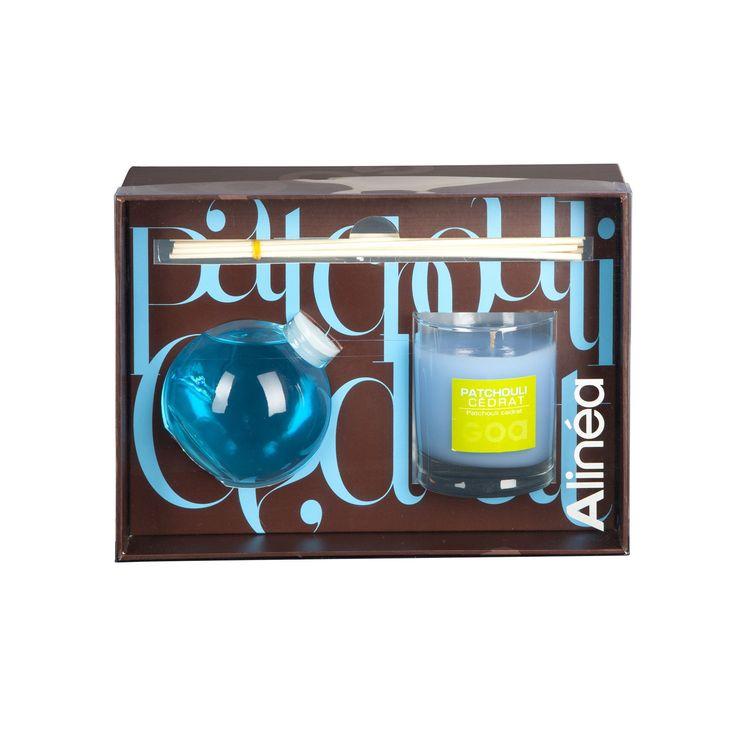 Coffret bougie et goatier 250ml parfum Patchouli Cédrat Patchouli/Cedrat - Goa - Les senteurs - Bougies et senteurs - Toute la déco - Décoration d'intérieur - Alinéa