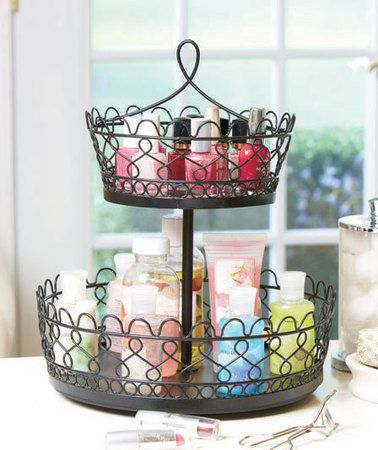 Rotating Makeup Organizer, pottery barn teen- would use this for perfumes and lotions, etc