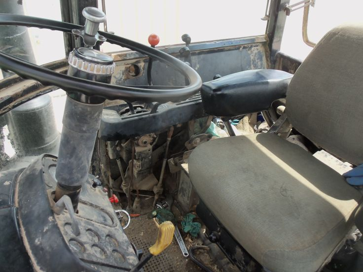 Inside the Sound Gard Body of the John  Deere 8430.The inside was really in need of repair