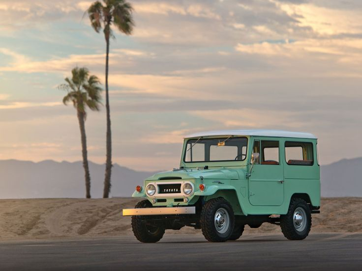 Restored 1966 FJ40 Land Cruiser In Sea Foam Green, Via Iron And Air.