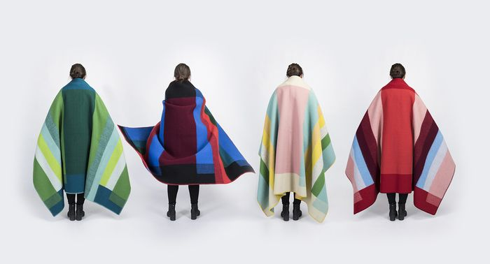 Bauhaus inspired blankets made in Norway from lufinawovens.com-Wmag
