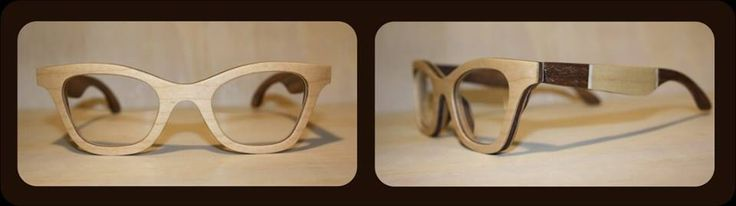 Fox-Eye in maple and walnut wood