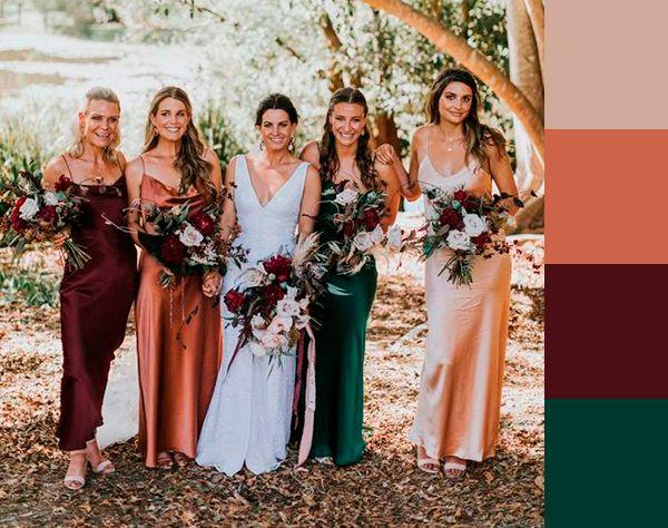 16 vestidos para madrinhas e convidadas da coleção Rainbow