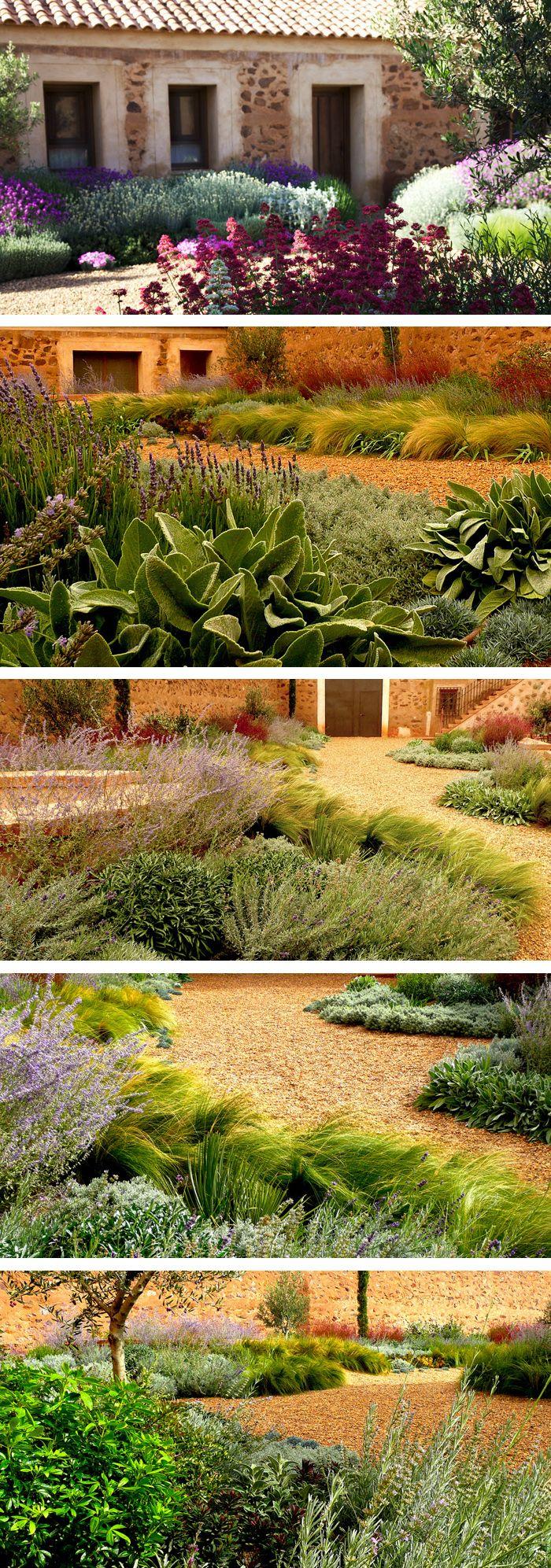 Pin by andrew fraser on mediterranean garden landscape for Jardin spanish