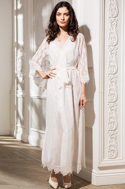 Длинный халат–кимоно Mia-Amore из шифона. Жасмин - 9809