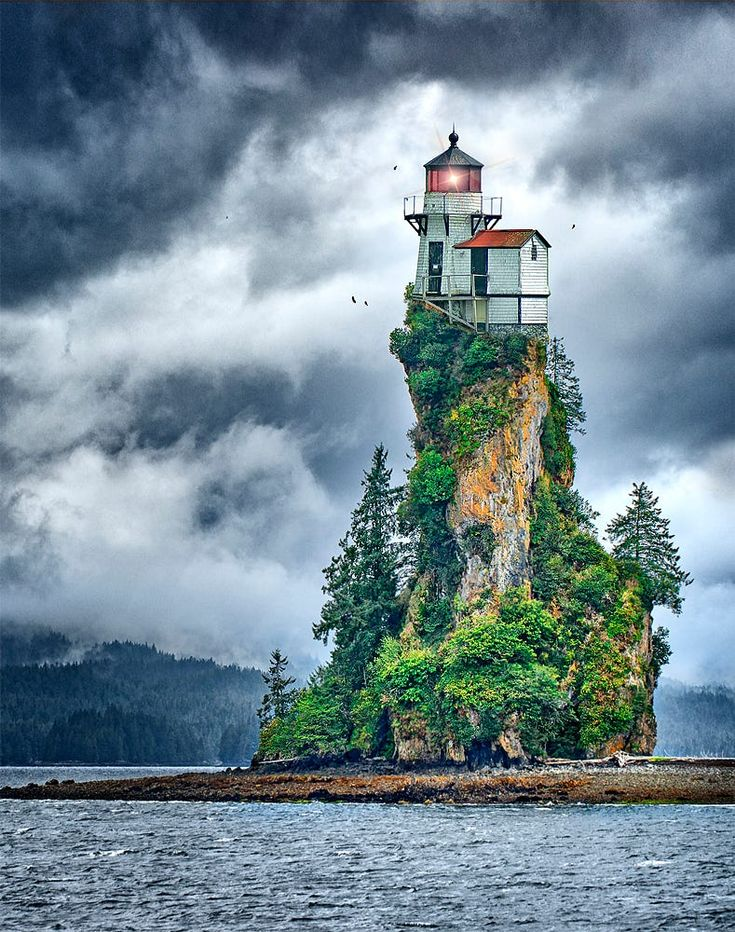 New Eddystone Light by Scott Marx on 500px *New Eddystone Light Fantasy composite image of two of my photographs. The lighthouse was taken not far from Boothbay Harbor, Maine and the rest of the scene is of New Eddystone rock, in the Misty Fjords National Monument Alaska.