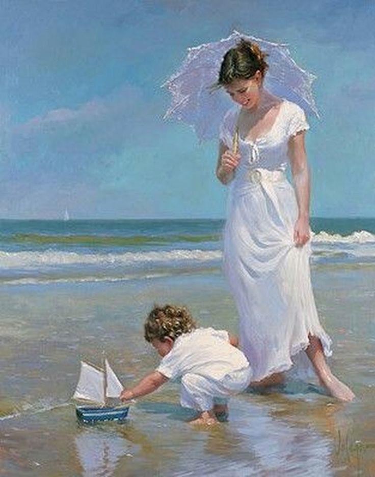 Масленицей, открытка женщины у моря
