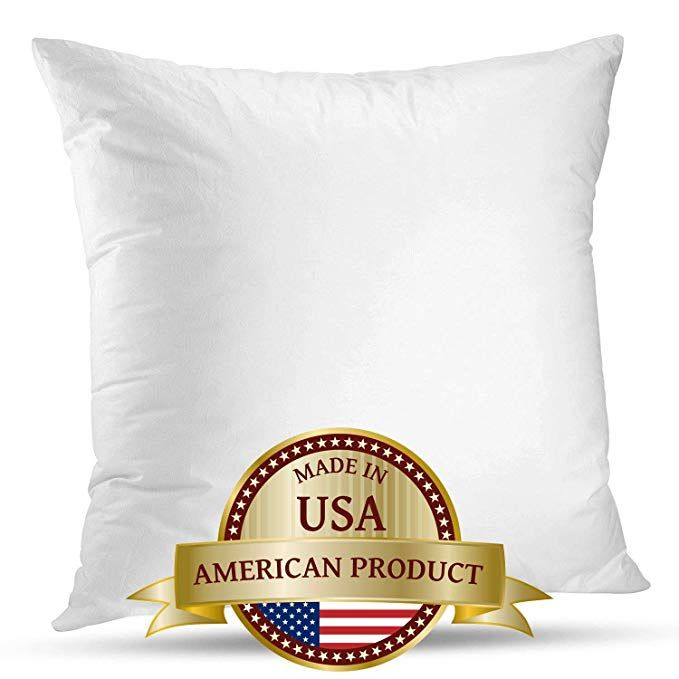 Luxyfluff Down Synthetic Square Decorative Throw Pillow Insert Sham Stuffer 20x 20 Made In Usa Decorative Throw Pillows Throw Pillow Inserts Throw Pillows 20 x 20 pillow insert
