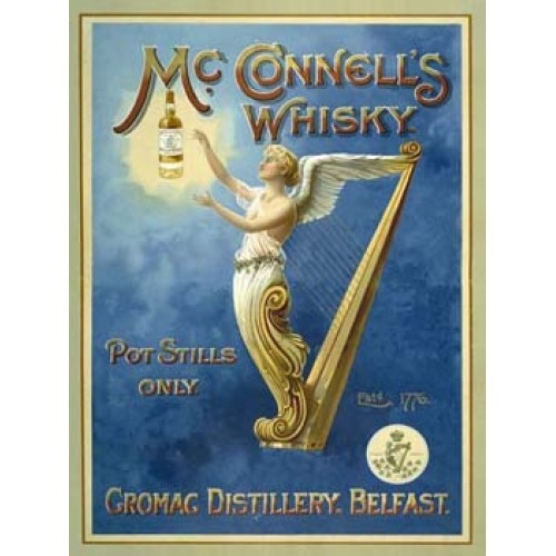 McConnell's Whisky Vintage Alcohol Tin Sign