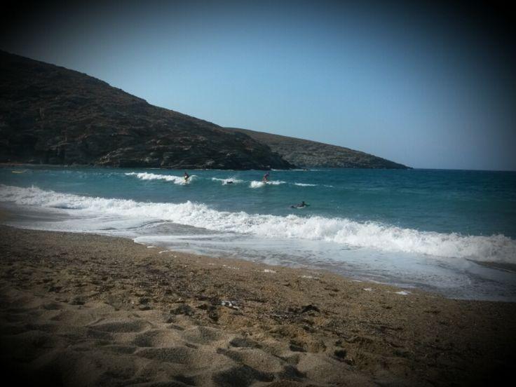 Tinos island    kolybithra surf spot