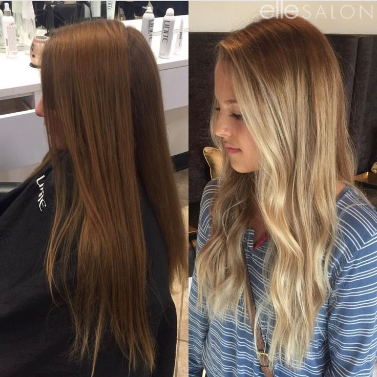 Brunette to blonde! Hair by @jordynf_ellesalon