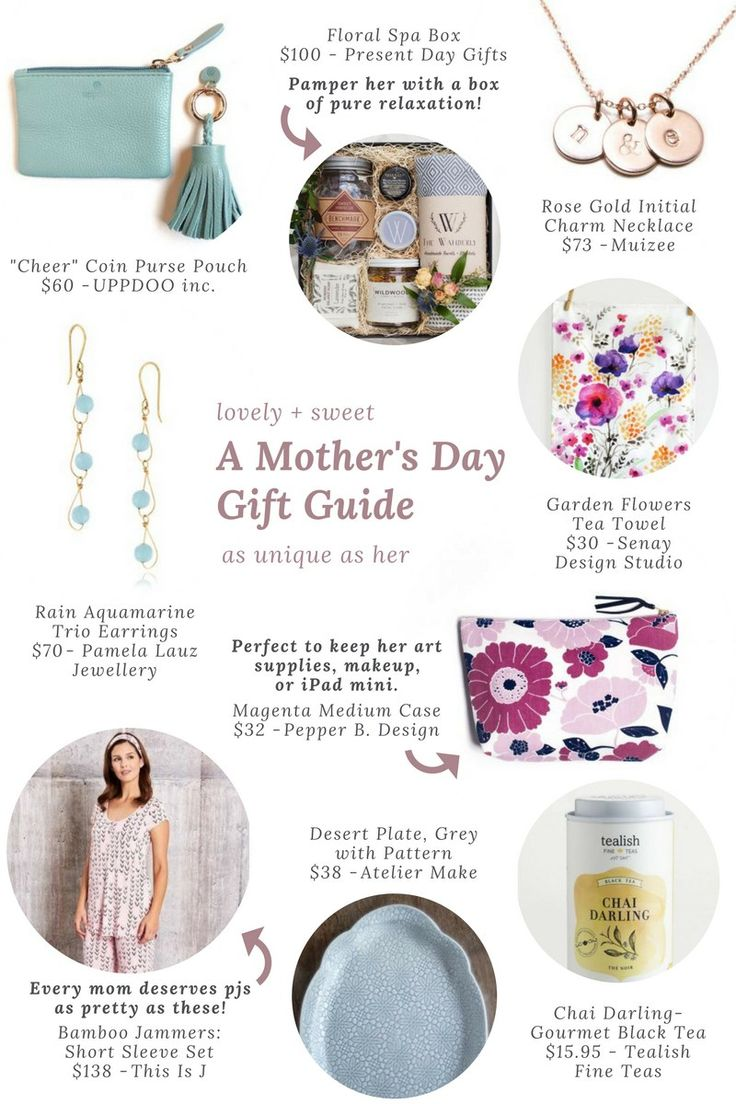 A Mother's Day Gift Guide featuring unique and handmade products from One of a Kind Online Shop, plus a $100 Mother's Day giveaway.