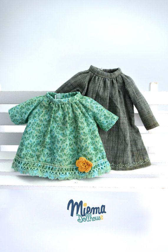 2 Vintage style DRESSES for Blythe by Miema par miema4dolls sur Etsy