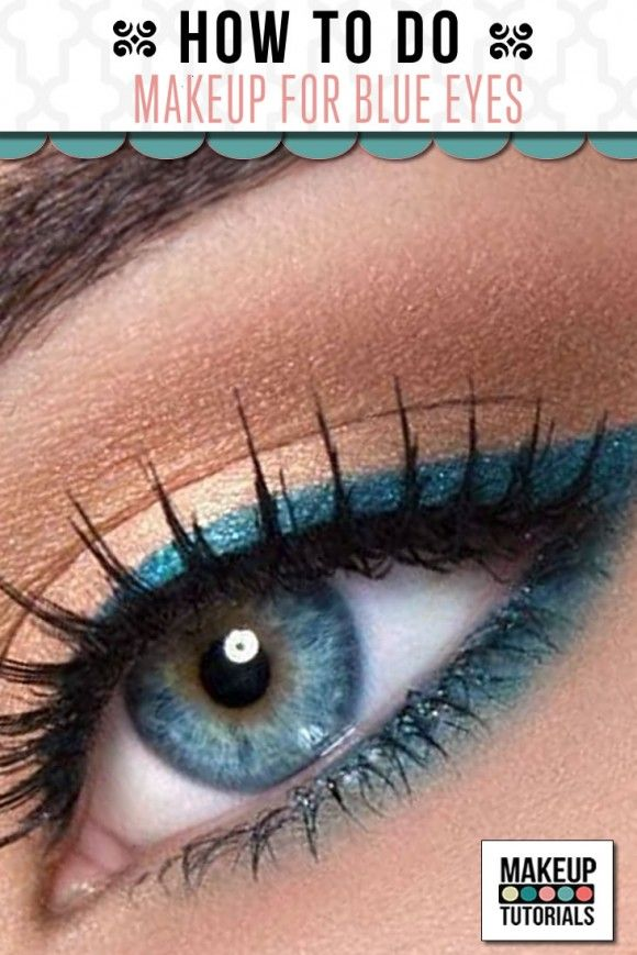 Blue eyes eye makeup tutorial, how to make blue eyes pop. | http://makeuptutorials.com/makeup-tutorials-how-to-do-eyemakeup-for-blue-eyes/