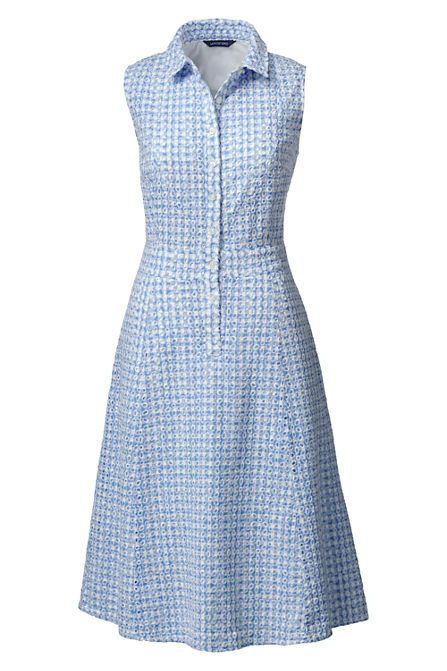 Women's Woven Eyelet Shirtdress
