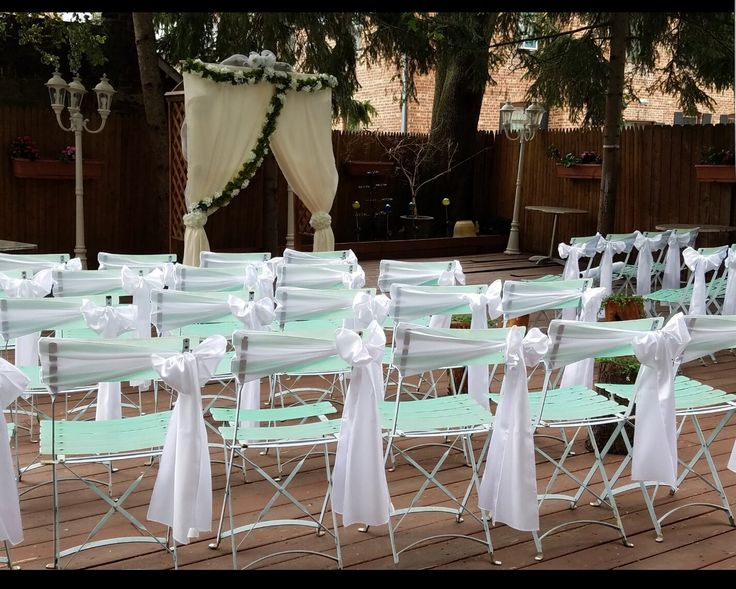 Ceremony Setup With Sashes Additional Cost