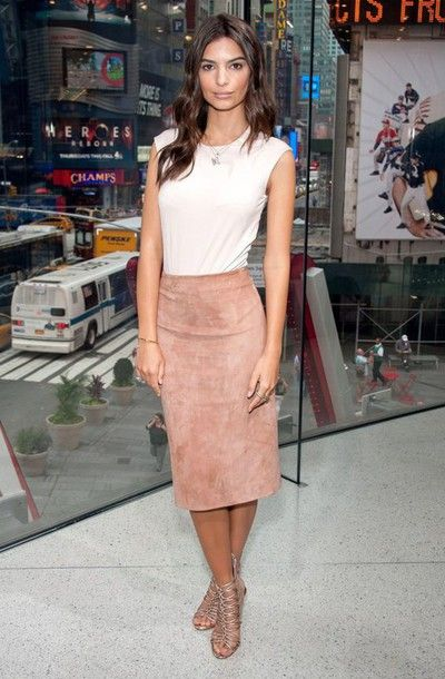 skirt pink suede skirt suede skirt pink skirt midi skirt pencil skirt top white…