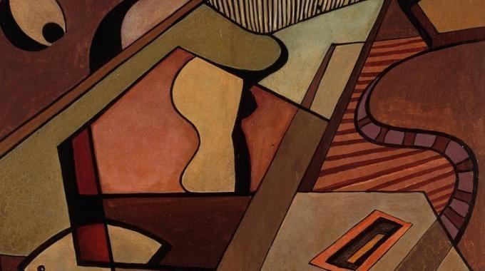 L'opera Composizione pentagonale è un dipinto di matrice astrattista realizzato da Mario Radice nel periodo post-bellico. Nel quadro confluiscono, con spiccato equilibrio compositivo e armonia cromatica, il linguaggio astratto che segna la produzione del pittore negli anni trenta, e il ritorno alla figurazione, legato allo scoppio della seconda guerra mondiale.