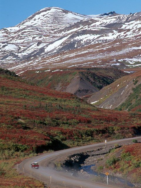 Dempster Highway, Yukon/Northwest Territories - The Dempster Highway connects the Klondike Highway in the Yukon Territory of Canada to Inuvik, Northwest Territories on the Mackenzie River delta.  During the winter, the highway extends another 194 kilometres to Tuktoyaktuk, on the northern coast of Canada, using frozen portions of the Mackenzie River delta as an ice road.