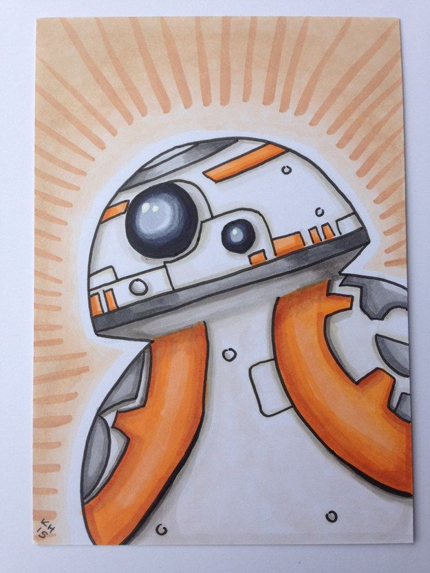 how to draw bb8 easy