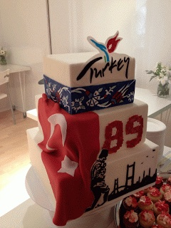 Cake and Turkish Flag