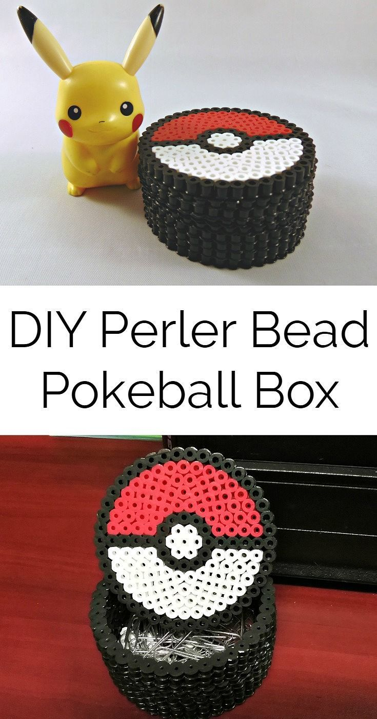 How to make a 3D Perler Bead Pokemon Box | DIY Gamer Crafts