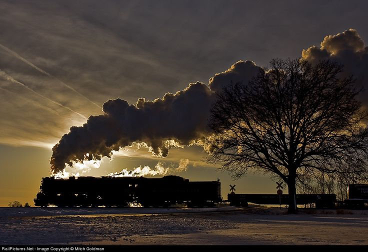 "1225 Pere Marquette Steam 2-8-4 at Owosso, Michigan by Mitch Goldman  The real ""Polar Express"""